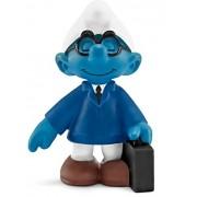 Schleich North America Salesman Smurf Toy Figure