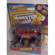 2012 HOT WHEELS SPIDERMAN MONSTER JAM TRUCK 1:64 GRAVE DIGGER 30TH ANNIVERSARY WITH EXCLUSIVE 30TH ANNV. GRAVE DIGGER FLAG by Hot Wheels