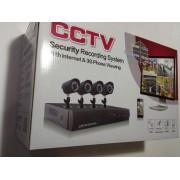 Четириканална видеосистема за видеонаблюдение - пълен комплект