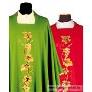 Hímzett gyapjú Miseruha stólával - piros, zöld