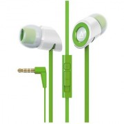 Creative Hitz MA-350 In-Ear Noise Isolating Headphones with 9mm Driver and In-Line Mic and Volume Control (Green) (Disco
