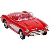 Goki Metalen chevrolet corvette 1957 rood