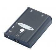 KVM-Switch USB/HDMI für 2 PCs, inkl. Anschlusskabel
