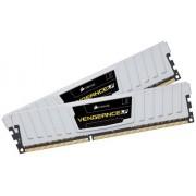 Corsair CML8GX3M2A1600C9W Vengeance Low Profile Memoria per Desktop a Elevate Prestazioni da 8 GB (2x4 GB), DDR3, 1600 MHz, CL9, con Supporto XMP, Bianco