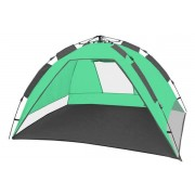 CampFeuer - Automatik Strandmuschel, beach tent, grün/grau
