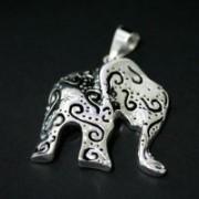 Pingente de Prata 925 Elefante Indiano