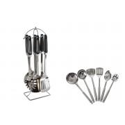 Set 6 ustensile de bucatarie cu suport din inox