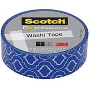 Scotch Expressions Washi Tape 0.59 x 393 Blue Quatrefoil 6 Rolls (C314-P69)
