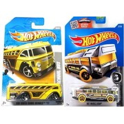2016 Hot Wheels High BUS * SET SURFIN' SCHOOL BUS Super Chrome & Video Game Heroes pack IN PROTECTIVE CASES