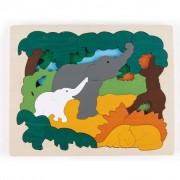 Hape Puzzle Animali Asiatici E6521