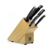Комплект кухненски ножове и дървен блок Wusthof Silver Point 6 части