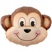 Balon folie figurina cap maimuta - 76cm, Qualatex 40197
