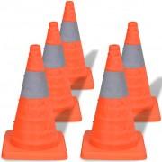 vidaXL 5 pop-up cones de sinalização 42 cm