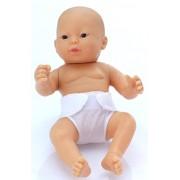 Belonil - piccolo piccolo, bambola pannolino asiatico, 24 cm (L'Europa Doll Factory 02.63207)