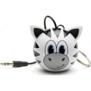 Boxa Portabila KitSound MyDoodle Characters Zebra, Jack 3.5mm (Alb/Negru)