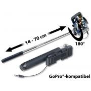 Mini-Selfie-Stick für Smartphone & Action-Cam, ausziehbar 14 - 70 cm