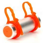 T-05 Natación Buceo impermeable MP3 Player w / FM Radio + auricular - plata + Naranja (8GB)
