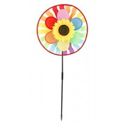 Colourful Wind Mill / Wind Spinner New Arrival Best Selling Premium Quality Lowest Price (Colours May Vary) Rainbow Wheel, Multicolour Toy, Bright Vibrant Colour, Safe for Children, Durable, Very Strong, Emulates Child's Imagination & Creation, Add Fun &