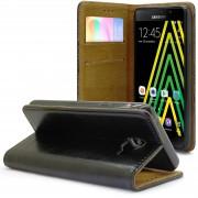 Clubcase Etui Italia Folio Stand Samsung Galaxy A5 2016 (A510) Cuir Véritable Bovin Noir