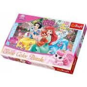 "Trefl, Disney - Princess, ""Princesses and their pets"" 160 Shine Color Jigsaw - Puzzle"