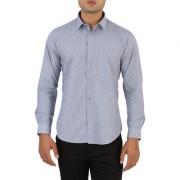 Integriti Blue Cut away Full sleeves Casual Shirt For Men