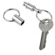 Pull-Apart Silver Key Rings Keychains-Heavy Duty Dual Key Ring Pull Apart Snap Lock Holder Detachable Pull Pack of 3pcs