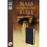 NASB, Thinline Bible, Imitation Leather, Black/Tan, Red Letter Edition by Zondervan
