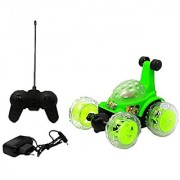 BEN 10 STUNT CAR RECHARGABLE RC WITH FLASHING LIGHT WHEEL CAR GIFT TOY