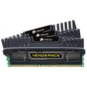 Corsair CMZ12GX3M3A1600C9 Vengeance Kit di Memoria Triple Channel da 12 GB (3x4 GB), DDR3, 1600 MHz, CL9, 1.5 V, Nero