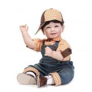 55 Cm Bébé Sourire Poupées Silicone Reborn Bébé Poupée Enfant De Accompagner Jouets Éducation Précoce Poupées Garçon Jouets Film Photographie Accessoires