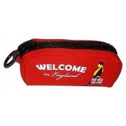V Moda™ Trendy Zipper Pencil Pouch Box / Multipurpose Organizer Case London for Kids - Red