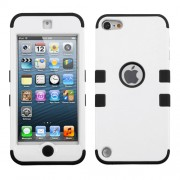Funda Protector Triple Layer Apple Ipod Touch 5G / 6G Blanco / Negro