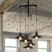 LUMZ Industriele hanglamp van buizen