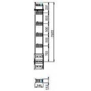 Canalis - lungime distributie coloana verticala -800 a -2,5 m -4 trape derivatie - Bara capsulata-canalis ks - Canalis - KSA800EV4254 - Schneider Electric