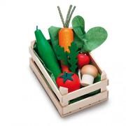 Erzi assortimento di verdure scatole di legno, piccoli, cibo giocattolo, Negozio degli accessori