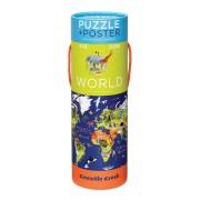 Puzzel en poster World - Wereld | Crocodile Creek