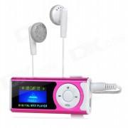 "1,0 ""OLED Lecteur MP3 Affichage w / Torche / Clip / TF / Mini USB - Deep Rose + blanc"