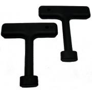 Plumb Pak - Manici di sollevamento per coperchio gocciolatoio a forma di T, pacco da 2