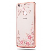 KolorFish Little Flower Bling Thin Silicone Back Case Cover for LeTV Le 1s (Rose Pink)