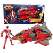 Bandai Year 2007 Power Rangers Operation Overdrive 11 Inch Long Action Vehicle Set Drivetek Set With Missile Launcher, 2 Missiles And Red Power Ranger