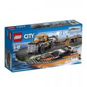 City - 4x4 met speetboot 60085