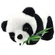 Tickles BlackWhite Panda With Leaves Stuffed Soft Plush Toy 19 cm