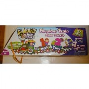 7 Foot Long All Aboard Number Train Floor Puzzle 27 Pieces