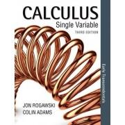 Calculus Early Transcendentals Single Variable by University Jon Rogawski