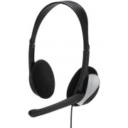Casti Stereo cu microfon Hama Essential HS 200 (Negru/Argintiu)