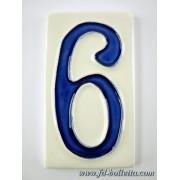 Numero civico ceramica grande nc7