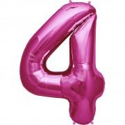 Balon folie mare cifra 4 magenta - 86cm, Northstar Balloons 00138
