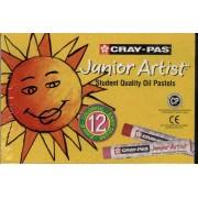 Boîte De 12 Pastels À L'huile - Oil Pastels - Cray-Pas Junior Artist
