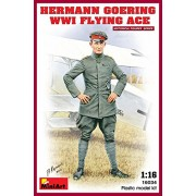 "Miniart 1: 16 escala Kit de modelo de plástico ""Hermann Goering Ww1 Flying Ace"