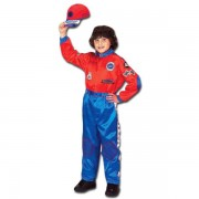 Childrens Champion Racing Driver Jumpsuit - Red & Blue - Ages 2-3